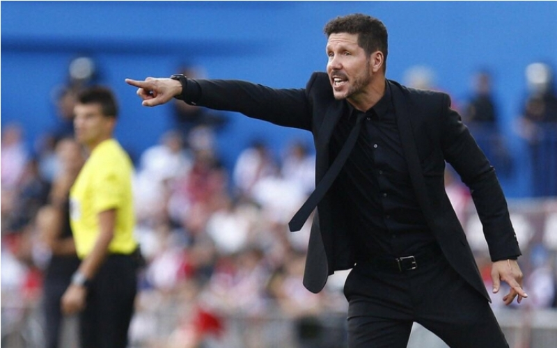 Simeone en el Nou Camp